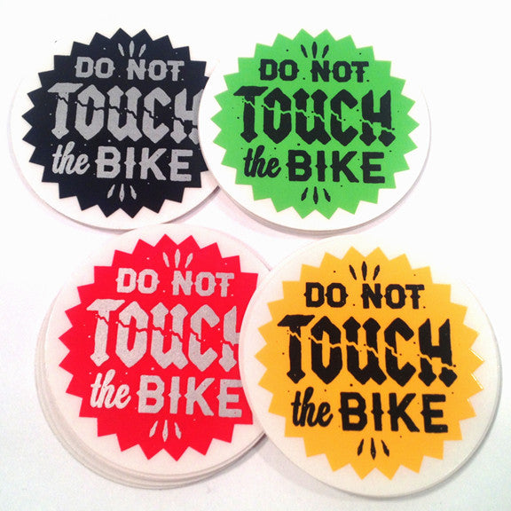 Do Not Touch The Bike: Sticker Pack