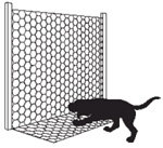 HEX NETTING VC 17 GA 1.5X150X60 APRON FENCE_BLACK
