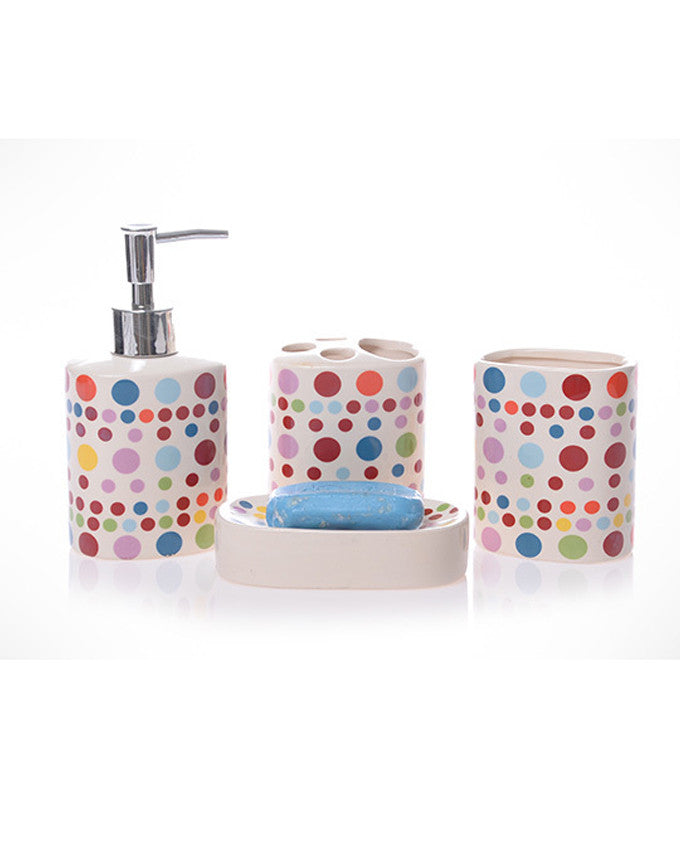4Pc Bath Accessories Set