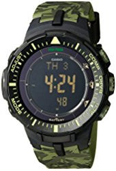 Casio Men's PRG-300CM-3DR Pro-Trek Triple Sensor Tough Solar Digital Display Quartz Green Watch