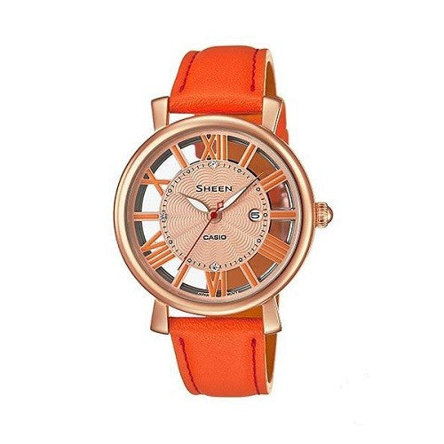 Casio Sheen SHE-4047PGL-4AUDR (SX170) Analog Women's Swarovski Watch