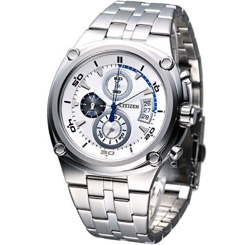 Citizen Men's AN3450-50A Silver Chronograph Dial Stainless Steel Band Watch