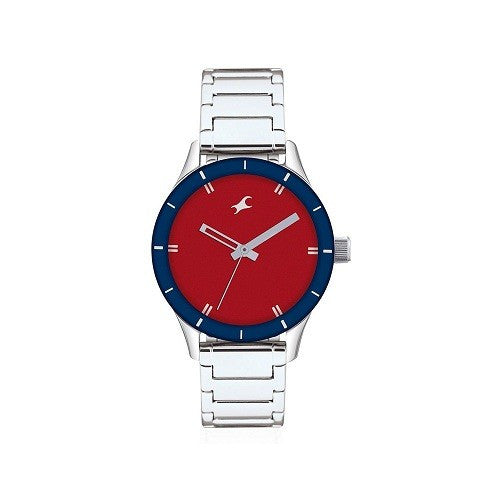 Fastrack NF6078SM05 Women's Red Dial Analog Watch