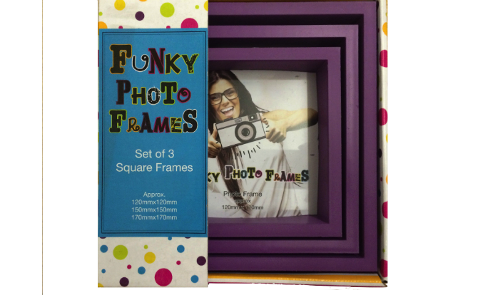 3 Piece Funky Frame Set-Purple