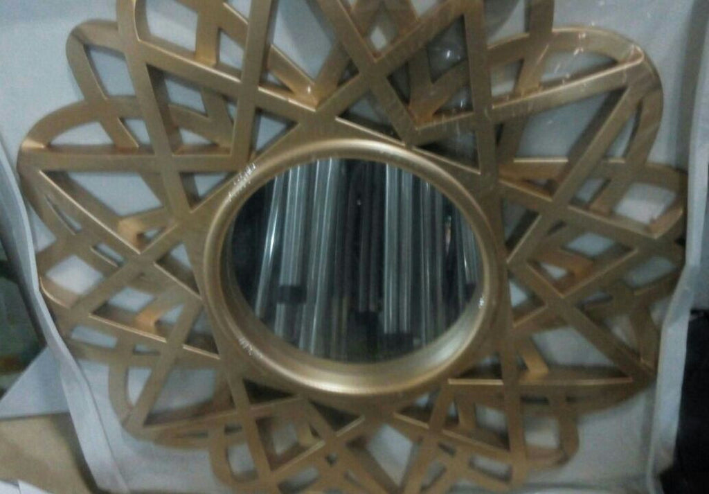 Spiky Gold Decorative Wall Mirror