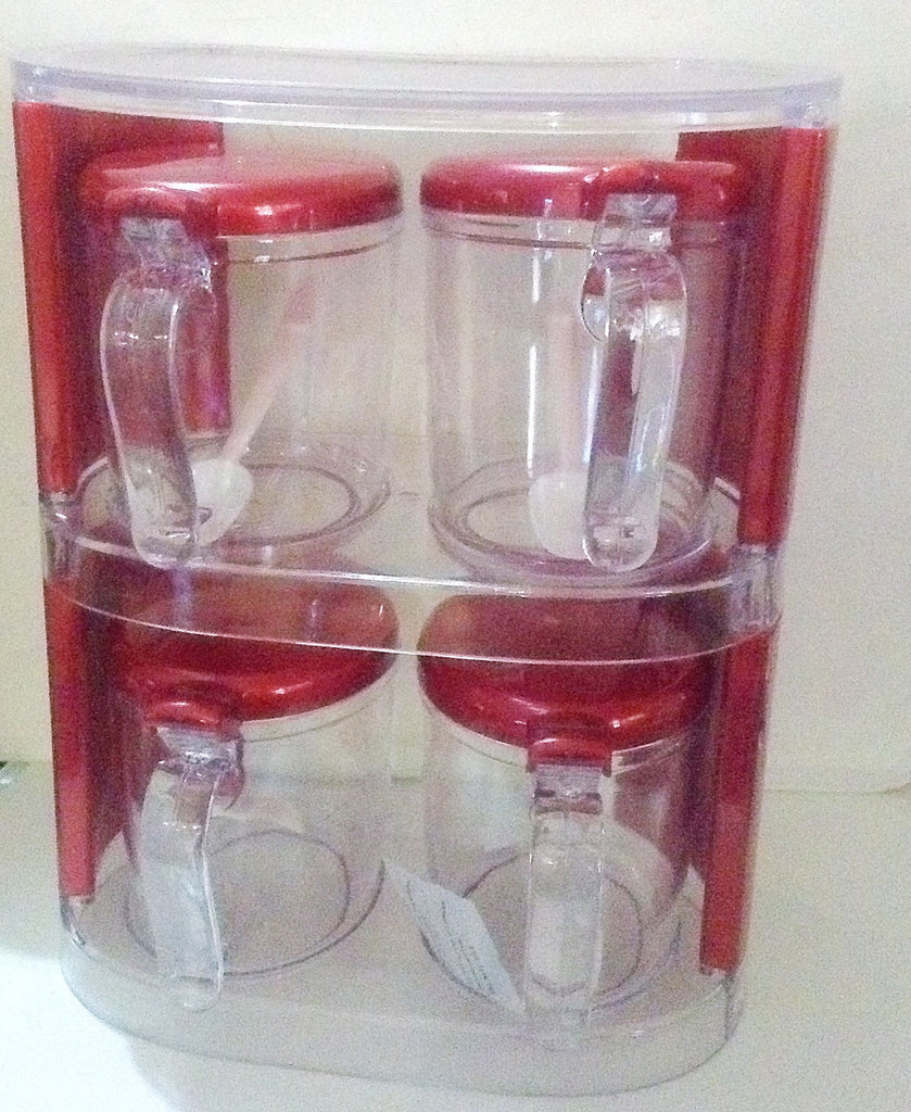 4 Piece Spice jar Rack set