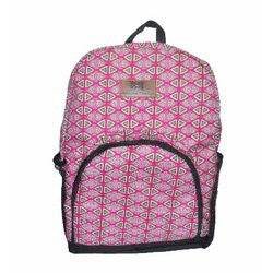 African Things Pink Ankara Backpack