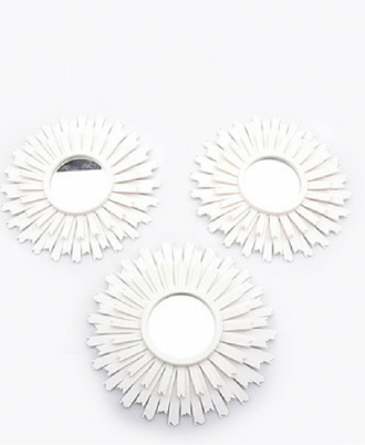 3 Piece Spiky  Wall Mirror Set