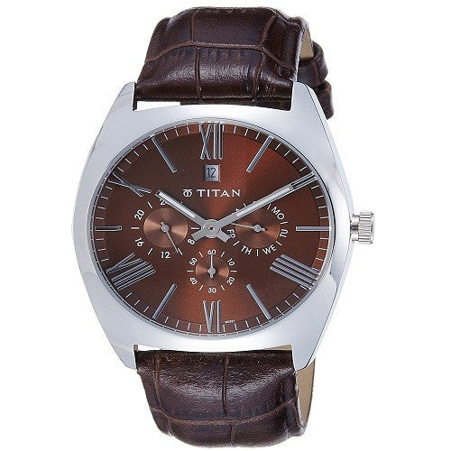 Titan GCLSQ Multi-Function Analog Brown Dial Men's Watch - 9476SL03J
