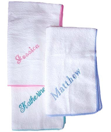 Personalised Baby Towels