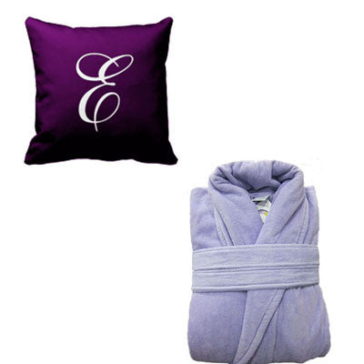 Personalised Bathrobe and Pillow Set