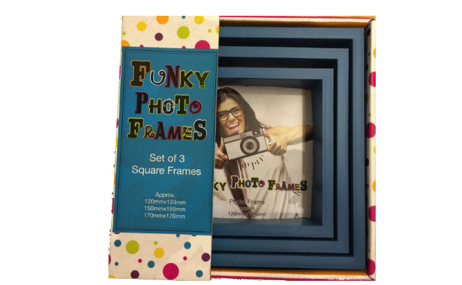 3 Piece Funky Frame Set-Blue