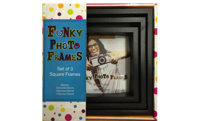3 Piece Funky Frame Set-Black