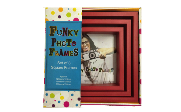 3 Piece Funky Frame Set-Red