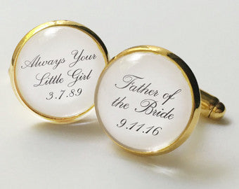 Personalised Dome Cufflinks