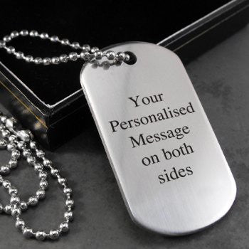 Personalised Engraved Dog Tag Necklace