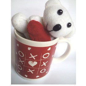 Valentine Mug and Teddy set-xoxo