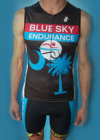 Men's Chevron Blue Sky Endurance Fluid+ Tri Top