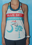Womens Blue Sky Endurance Racing Singlet Broken Glass