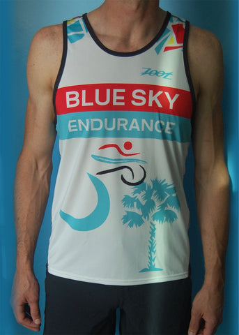Men's Blue Sky Endurance Racing Singlet Broken Glass