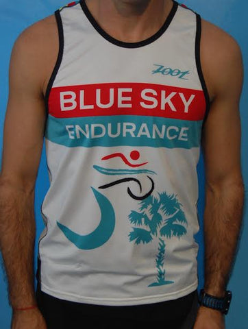 Men's Blue Sky Endurance Racing Singlet Chevron