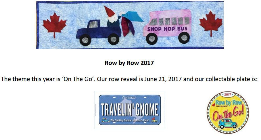 "Row by Row - ""On the Go"""