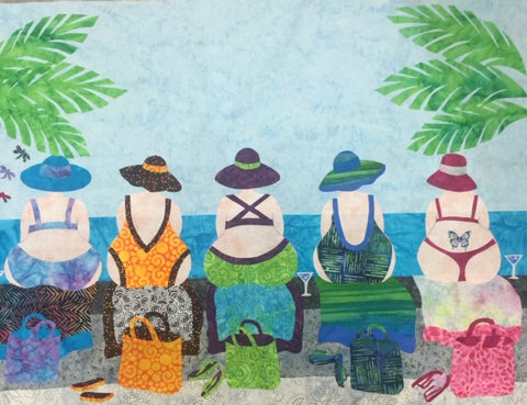 Beach Bum Applique - The Quilting Gnome