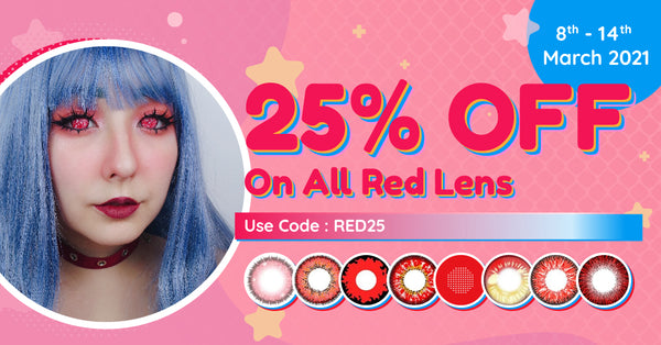 25% off red contacts