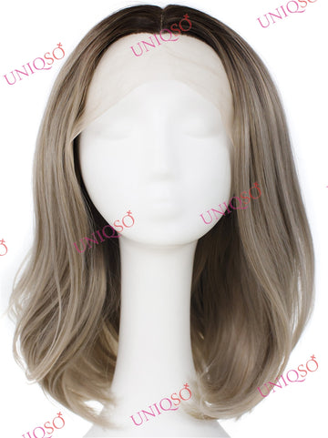 Premium Wig - Natural Brown Lace Front Straight Wig-UNIQSO