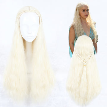 Cosplay Wig - Game of Thrones - Daenarys Targaryen-UNIQSO