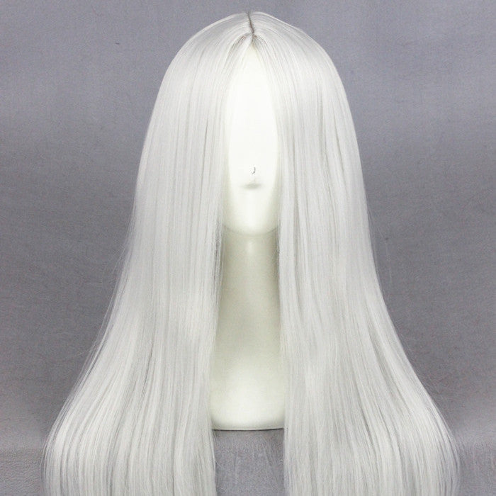 Cosplay Wig - Medium Silvery White wig-UNIQSO
