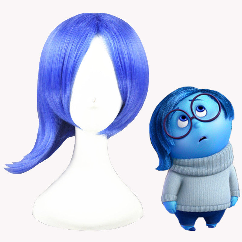 Cosplay Wig - Inside Out/Sadness-UNIQSO