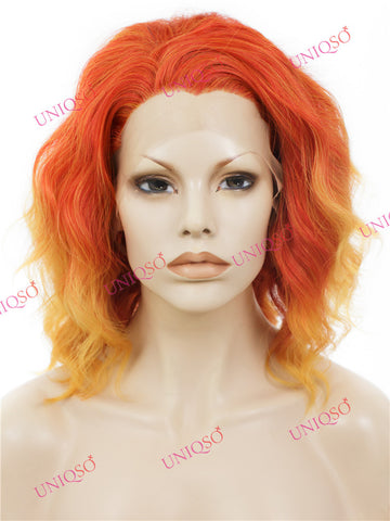 Premium Wig - Lace Front Cherry Red Wig (Cascading Curls)-UNIQSO
