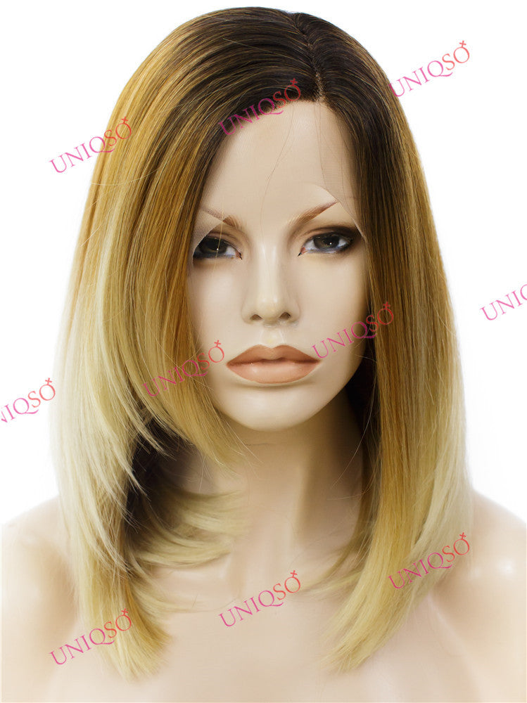 Premium Wig - Reverse-Ombre Blonde Lace Front Synthetic wig-UNIQSO