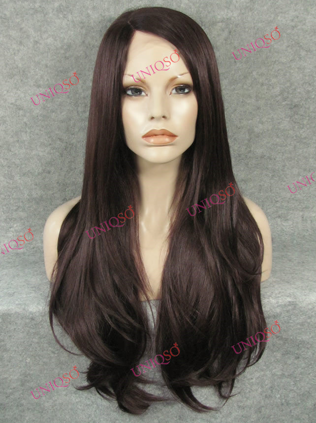 Premium Wig - Rich Chocolate Mocha Brown Lace Front Wig-UNIQSO