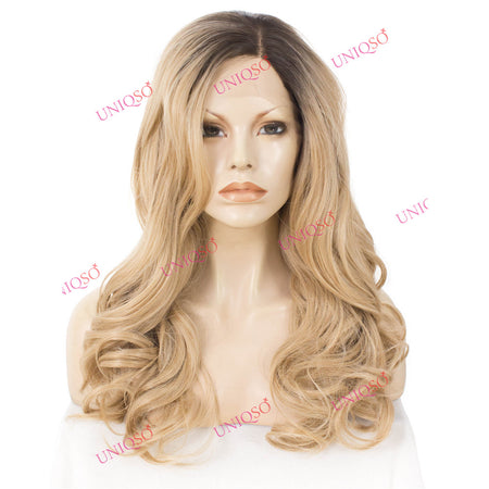Premium Wig - Wavy Toffee Blonde Lace Front Wig-UNIQSO