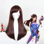 Perruque de cosplay - Overwatch D.Va-UNIQSO