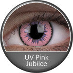 Phantasee UV Glow Crazy Lens Pink Jubilee-UNIQSO