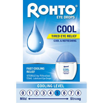 Rohto Eye Drops Cool - Tired Eye Relief-UNIQSO