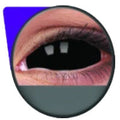 Flash Black Sclera Lens Sabretooth / Blackout / Black-Sclera Kontakter-UNIQSO