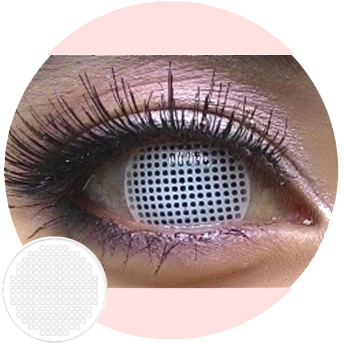 Sweety Crazy Lens Wit scherm / White Mesh-Crazy Contacts-UNIQSO