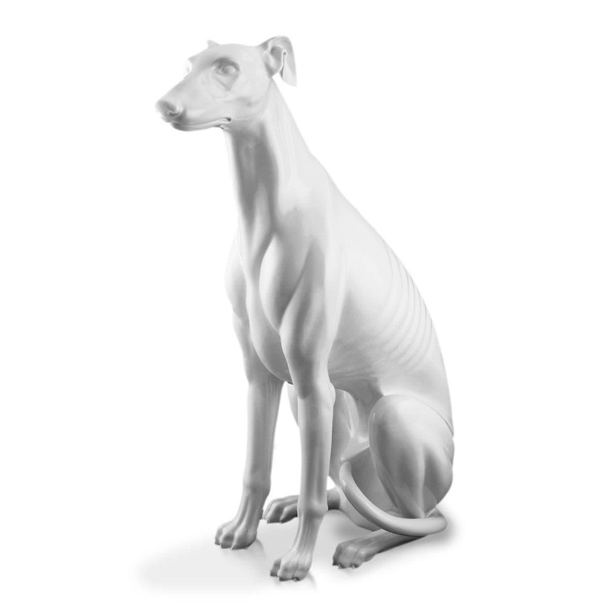 Hand Painted Italian Ceramic greyhound-dog statues-Hotel Lobby Furniture-luxury home decor