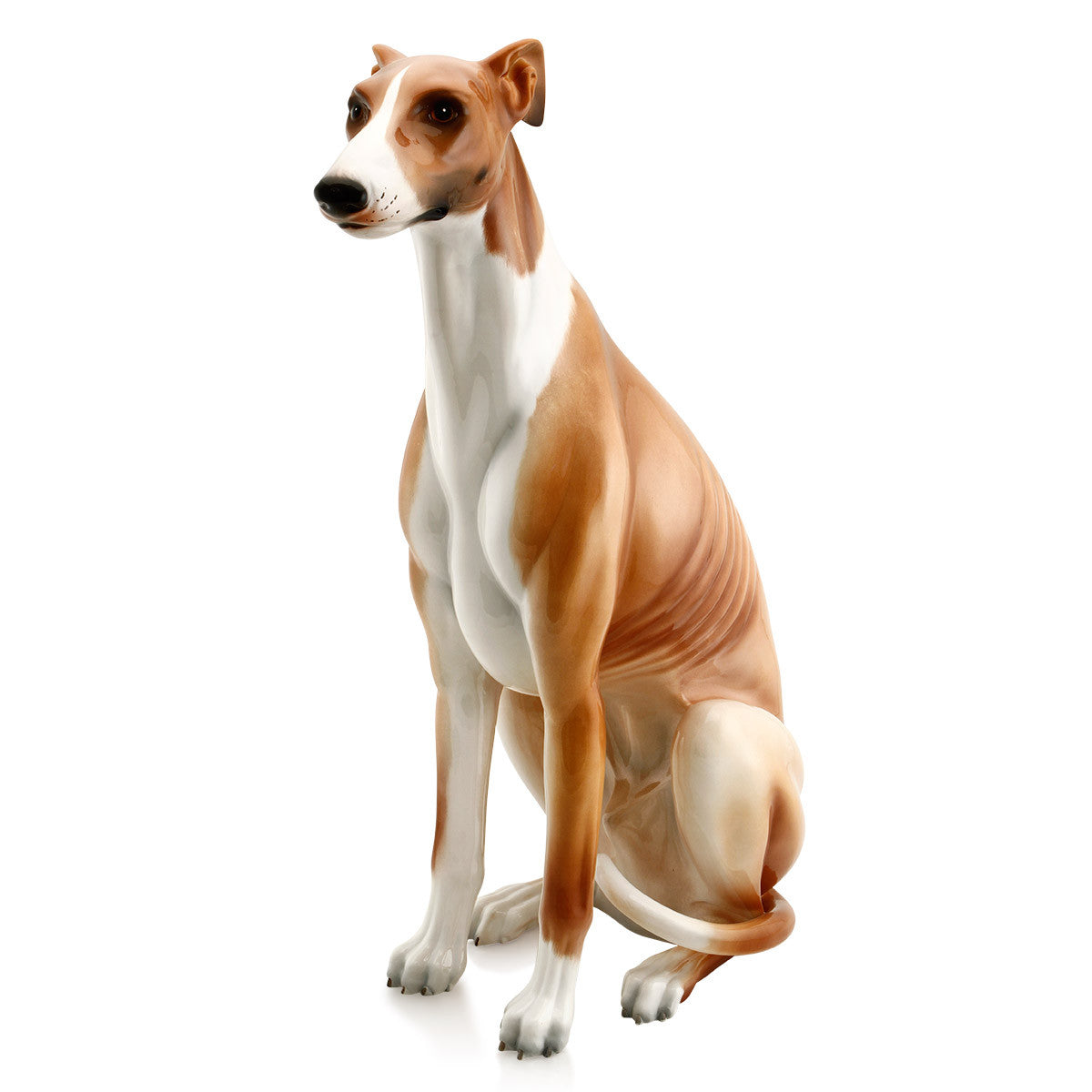 Ceramic big italian greyhound figurine with lifelike details