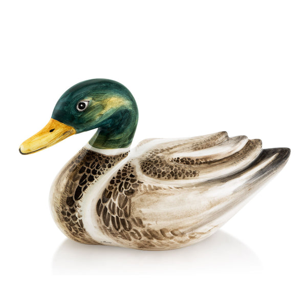 Ceramic duck with lifelike details