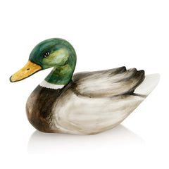 Hand Painted Italian Ceramic duck figurines-gifts for animals lovers-Country decor