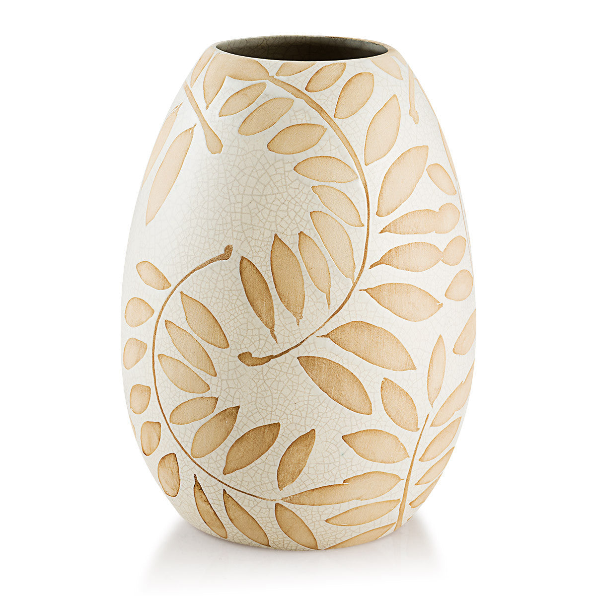 Ceramic oval vase | Nature Harmony crackle oval vase