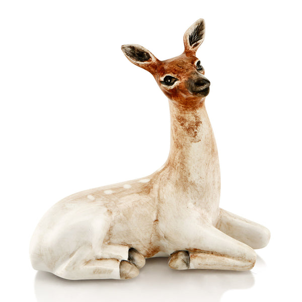 Ceramic female impala statue with lifelike details
