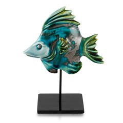Ceramic tropical fish on stick  nautical decor