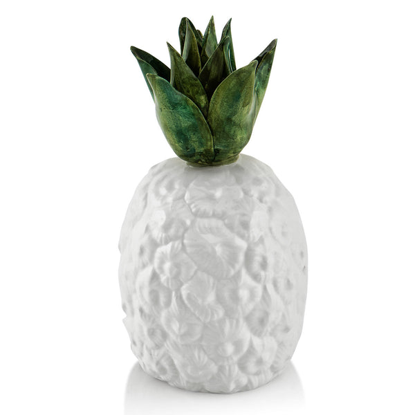 Ceramic pineapple with green detail