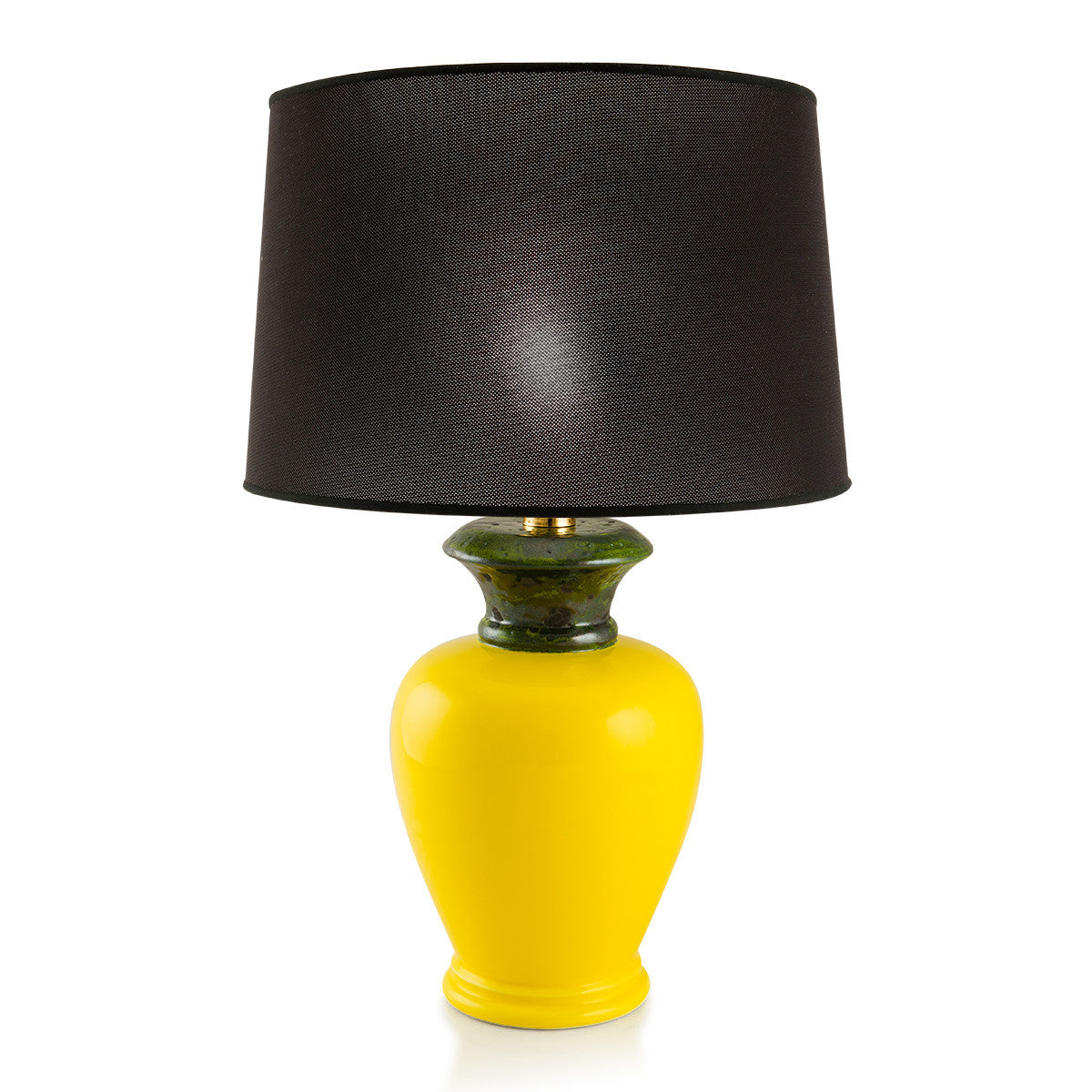 Yellow Ceramic Table Lamp | Italian Home Decor | Glamour collection